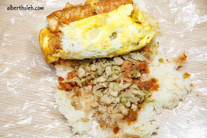 國強宮阿婆飯糰.桃園早餐(可以幫助婆婆又可以吃到飽滿的大飯糰)