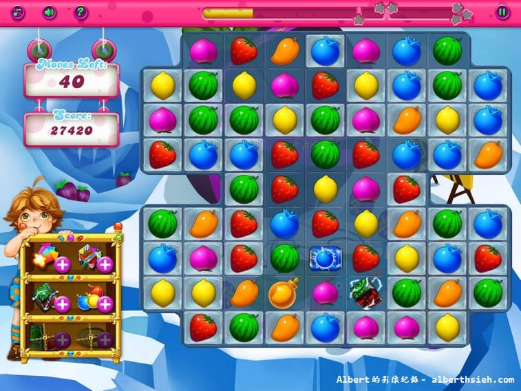 【APP遊戲】A+ Fruit Matching(Candy Crush Saga也有山寨版) @愛伯特吃喝玩樂全記錄