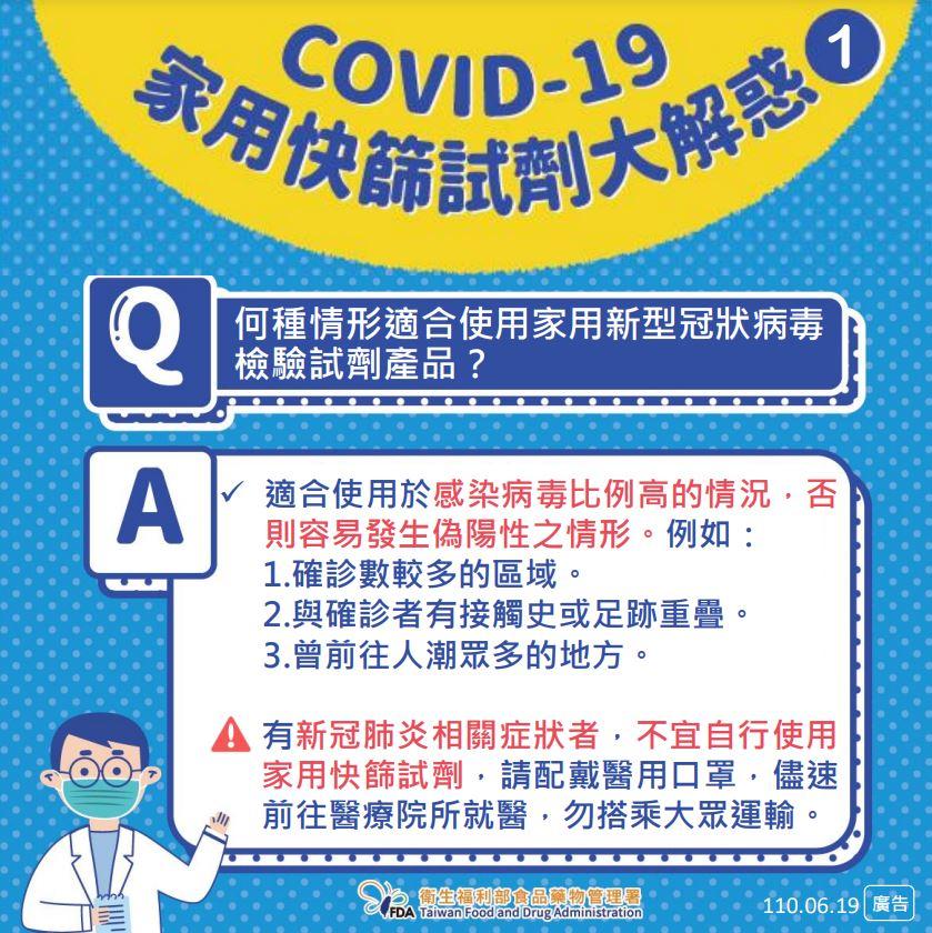 家用新型冠狀病毒檢驗試劑大解惑