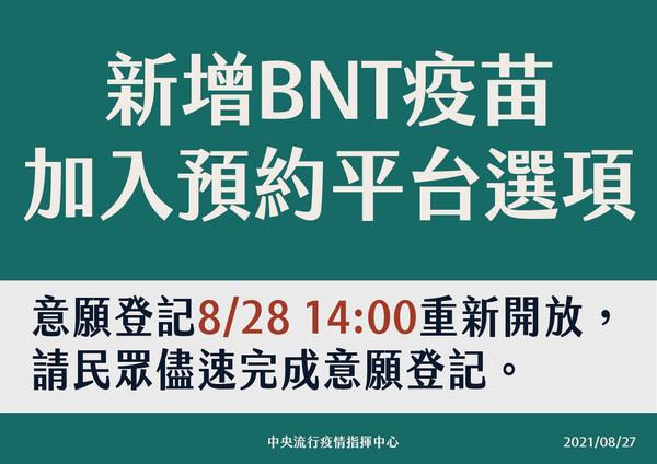 BNT疫苗預約接種