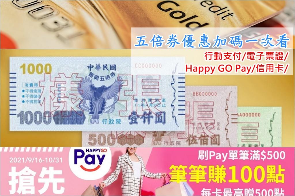 網站近期文章:振興五倍券加碼(行動支付/信用卡銀行/電子票證,HAPPY GO Pay加碼優惠)
