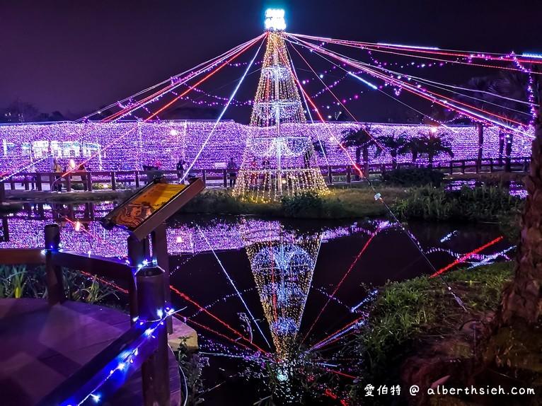 桃園朝陽公園‧水中耶誕樹