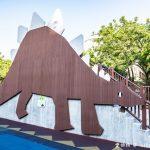 網站近期文章:桃園親子景點.溫州公園(劍龍磨石子溜滑梯滑道有寬有窄有彎曲)